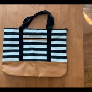 DSW Large Striped Tote Bag